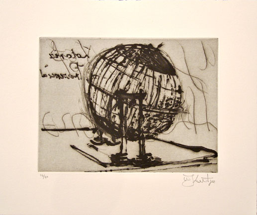 William Kentridge etching